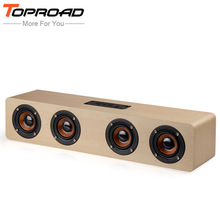 TOPROAD Big Power 12W HIFI Portable Wireless Bluetooth Speaker Stereo Soundbar TF Subwoofer Column Speakers for Computer Phones(China)