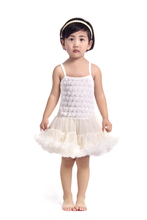 petti dress  tutu dress summer rosette dress ivory ball gown girl Dress KP-RDS019
