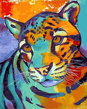 Animal Digital tiger oil Painting drawing By Numbers Abstract Home Decoration Coloring pictures Paint By Numbers For Kids Gift(China)