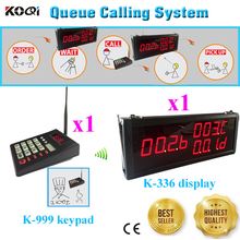 Guest Queue Paging System Wireless Personal Pager For Restaurant KFC By DHL/EMS Free Shipping(1 display+1 transmitter keypad)(China)