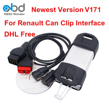 DHL Fast Shipping Renault Can Clip Car Diagnostic Interface Newest V171 Can Clip Scanner Tool For Renault Cars 1999 to 2017(China)