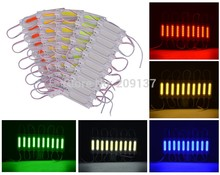 200pcs/lot led COB module Light Advertising lamp 2W IP67 Waterproof DC12V safe led background light warm white/red/blue