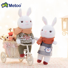 Plush Sweet Cute Lovely Stuffed Pendant Baby Kids Toys for Girls Birthday Christmas Gift 22cm Tiramitu Rabbits Mini Metoo Doll(China)