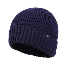 Kenmont Autumn Winter Unisex Men Wool Crochet Knit Solid Color Skull Cap Beanie Hat Cuff Tam 1561(China)