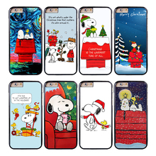 Coque Cartoon Christmas Dog Capa Phone Cases for iPhone X 8 8Plus 7 6 6S 7 Plus SE 5S 5C 5 4S 4 Case for iPod Touch 6 5 Cover.(China)