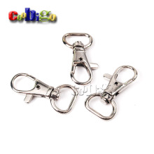 "5pcs Pack 1/2""(13.5mm)Webbing Strap Metal Lobster Clasps Snap Hooks Rotary Swivel Backpack Nickel Plated KeyChain #FLQ059-A"