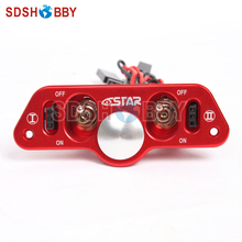 6STARHOBBY Heavy Duty Metal Dual Power Switch with Fuel Dot for RC Airplane (upgraded from ST1007)(China)