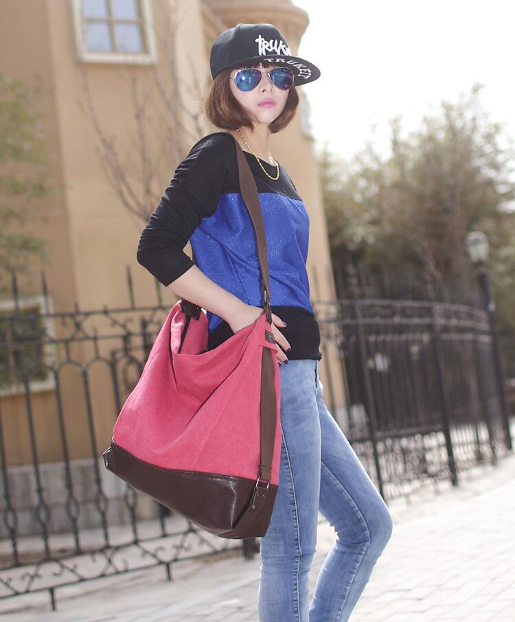 large capacity blast wave Korean special oversized shoulder bag ... 80832aba99f1a