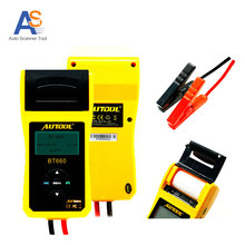 Car Battery Tester AUTOOL BT-660 with Built-in Printer BT660 Battery Analyzer Support Multi-Brand Cars Detect Bad Battery Cell(China)