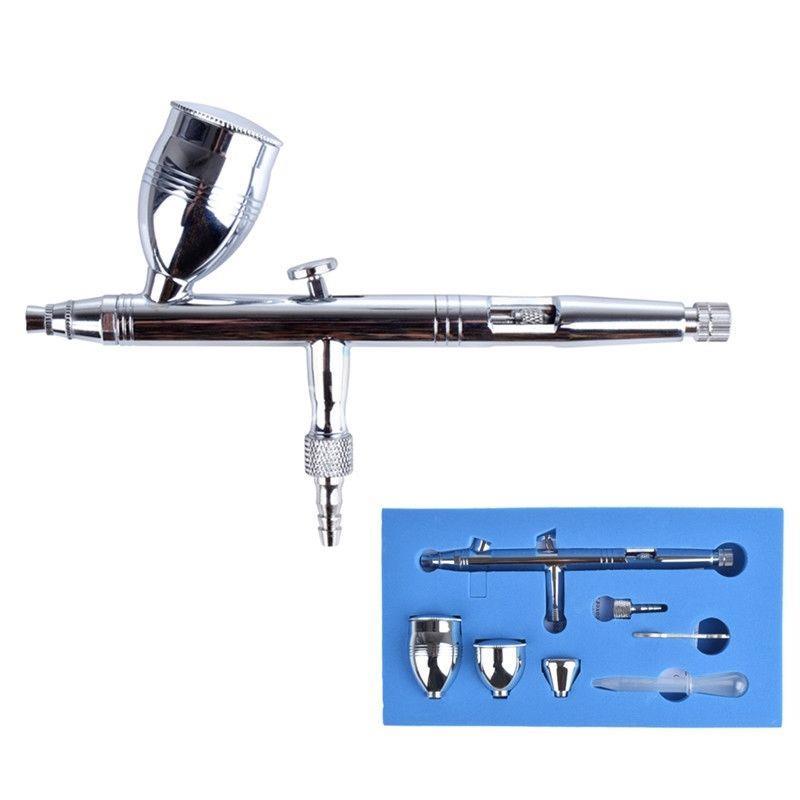 0.5mm Dual Action Airbrush Kit Spray Gun Air Brush Tattoo Nail Art Makeup Spray Tan 180<br>