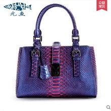 yuanyu 2017 new hot free shipping  python leather handbag leather handbag snake bag in Europe and the party hand women bag