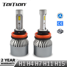 Buy Taitian 2Pcs SMD 144W 15200LM 6000K Super White H1 H4 H11 H15 h7 led bulb canbus Headlight Kit Fog Lamp Bulb 12V 24V truck bulbs for $45.04 in AliExpress store