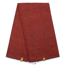 New Nigerian batik cotton material African hollandais prints super wax fabric high quality red color textile for sewing dress
