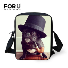Kawaii Women Messenger Bags Brand Designer Rottweiler French Bulldog Handbags Mini Teenager Girls Crossbody Bag Kids's Bag(China)
