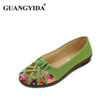 2017 Plus Size 35-41 Summer New Brand Women Flats Shoes Women Canvas Shoes Hollow out breathable Loafers Espadrilles