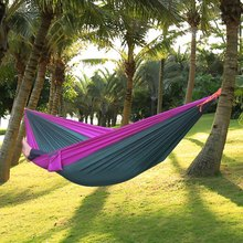 2016 Hot Assorted Color Parachute Nylon Strong Rope Double Color Parachute Nylon Fabric Hammock for Outdoor Activity New