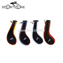 10 pcs/set Golf Club Iron Putter Head Cover Protect Set Neoprene HeadCovers Zipper design(China)