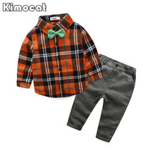 Buy Kimocat Toddler Children Clothes Spring Baby Boys Clothing Sets Gentleman Clothes Suits Kids Sweatshirt Child Formal Shirt+Pants for $11.87 in AliExpress store