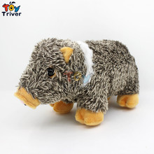 Simulation Plush Wild Boar/Sus Scrofa/Pig Toy Doll Stuffed Animal Baby Girl Boy Kids Birthday Gift Present Shop Home Deco Triver(China)