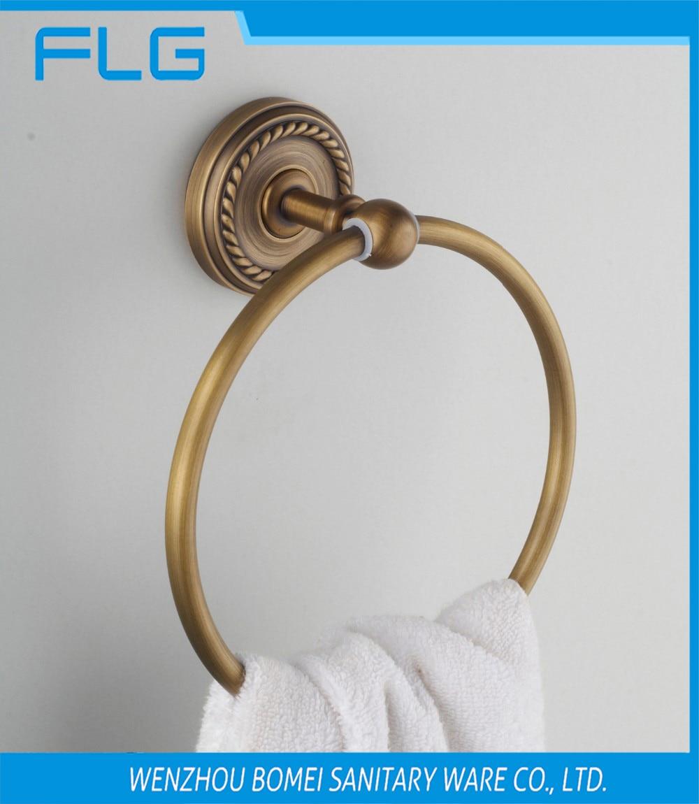 Vintage Antique Brass Towel Ring Towel Hanger Bathroom Hardware Towel Ring<br><br>Aliexpress