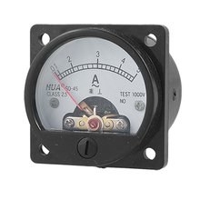 Practical Class 2.5 Accuracy AC 0-5A Analog Panel Round Meter Ammeter Meter Black(China)