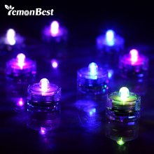 Lemonbest 12 PCS Super Bright Lamp LED Floral Shape Submersible candel Lights for Party Wedding Christmas Decoration(China)