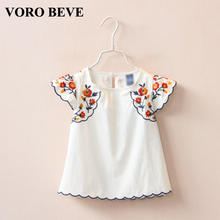 VORO BEVE 2017 Summer Princess Sundress Baby Girl Dress Embroidery Flower Cotton Cute Girl Dresses Fashion Children Clothes
