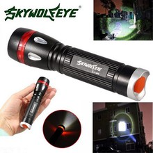 1Pc camping Outdoor Flashlight 3 Modes 3000LM  XML T6 LED 18650 Flashlight Outdoor Torch Lamp Light 3.22 64g