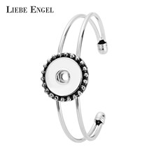 Buy LIEBE ENGEL New Brand Snap Button Cuff Bracelet & Bangles 2017 Hot Sale Fit 18mm DIY Snap Button Best Friend Gift Jewelry for $2.93 in AliExpress store