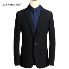 TIAN QIONG Men Blazer 2017 Autumn Mens Black Blazers Casual Suit Jacket Luxury Brand Formal Business Blazer Masculino Size S-3XL(China)