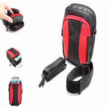 Double Zipper Sports Wallet Mobile Phone Bag Outdoor Cover Case for Multi Phone Model Pouch With Hand/Shoulder Strap 7colors