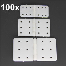 100pcs Nylon & Pinned Hinge 20x36 mm / 16x28.5 / 11x25.5 For RC Airplane Plane Parts Model Replacement(China)