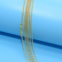 "5pcs/lot Promotion! Wholesale Gold Filled Necklace Fashion Jewelry Rolo ""O"" Chain 2mm Necklace 16-30 Inches Pendant Chain(China)"