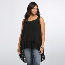 Buy Plus Size Women Clothing 2018 Summer Tops Women Blouses Black Lace Tank Tops Sexy Chiffon Blouse Big Size Shirt 5XL 6XL Blusas for $9.00 in AliExpress store