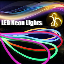 110V 220V  12V 24V Flexible led neon flex rope bar light SMD 2835 outdoor Indoor white RGB soft tube strip lights Free shipping