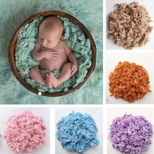 Newborn Photography Props Wool Felt Basket Filler Background Stuffer Baby Photo Prop Blanket Wool Fiber Decor Studio Accessories