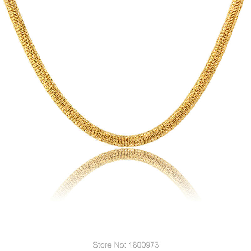 New Brand Snake Chain Necklaces Gold Color Men Women Choker Thick Necklace Fashion Jewelry In From Accessories On
