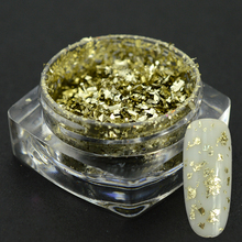 1pc Pale Gold Sparkly Nail Sequins Aluminum Flakes Nail Art Tips Design Irregular Glitters Dust Manicure Decorations BE3CS07