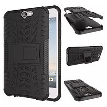 For HTC One A9 Case 5.0inch Hybrid Kickstand Dazzle Rugged Rubber Armor Hard PC+TPU Stand Function Cover Cases(China)