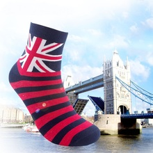 Free Shipping combed cotton brand men socks colorful dress socks 5pairs/lot Man's high qualtiy  men sox big size British style