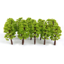 8 cm 20pcs 1/150 Model Trees Train Railroad Scenery 1:150 Light Green Tree Model Building Kits Child Classic Toys Supplies Gift