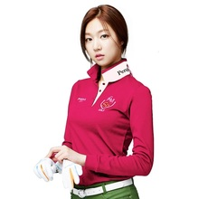Brand PGM Golf Apparel Clothing Women Polo Long-sleeved Shirt New Femmes Quick Dry Golf Clothes Lady Sportswear 2017 Tshirt(China)
