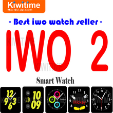 Bluetooth Connected Smart Watch IWO 2 MTK2502C 1:1 42mm Smartwatch for Apple iOS iPhone 6s 7 Huawei Samsung Sony 3 Android Phone(China)