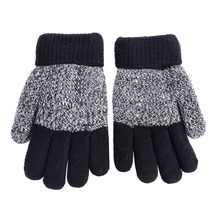 Autumn Winter Kids Gloves Girls Boys Mittens Thick Warm Cashmere Student Five Fingers Gloves
