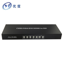 VGA DVI HDMI CVBS to SDI switcher 4x1 ALL TO SDI  Scaler Converter 3G 1080P AV to sdi 720P/1080P60HZ