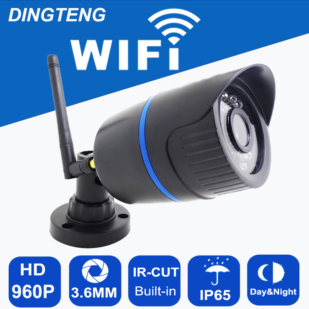 WIFI IP Camera 1280 x 960P 1.3MP Bullet Waterproof Night Outdoor Security Camera ONVIF P2P CCTV Cam with IR-Cut 64G TF card slot<br>