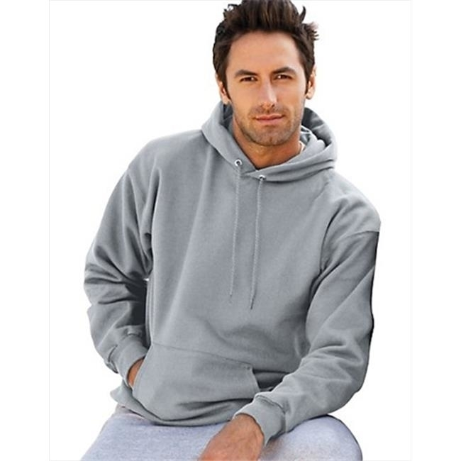 F170 Mens Ultimate Cotton Pullover Adult Hoodie Sweatshirt Light Steel Medium