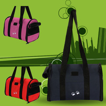 Portable and Soft L Pet Dog Cat Travel Carrier Bag Handbag Shoulder Bag Dual-use 2 Colors