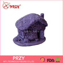 DIY Sell hot 3D house/stone shaped  silicone mold   fondant Cake decoration mold Handmade soap mold