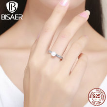 100% 925 Sterling Silver Best One in the Flowers Stackable Wedding Rings for Women Authentic Original Jewelry Gift ECR188(China)